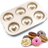 Remebe Moules à Donuts en Acier Inoxydable, 6 Cavités Anti-Adhérentes Résistantes à la Chaleurqualité Alimentaire Poêles pour