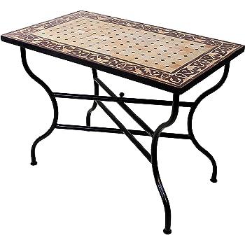 Amazon De Original Marokkanischer Mosaiktisch Gartentisch 100x60cm
