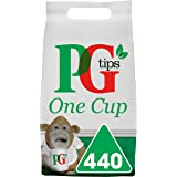 PG Tips One Cup Pyramid Tea Bags (Pack of 1, Total 440 Tea Bags)