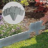 5 Meter Grey Stone Effect Rasenkanten   Pflanzengrenze   Hammer In Cobblestone Garten Grenze   Blumenbeet & Gras   20…