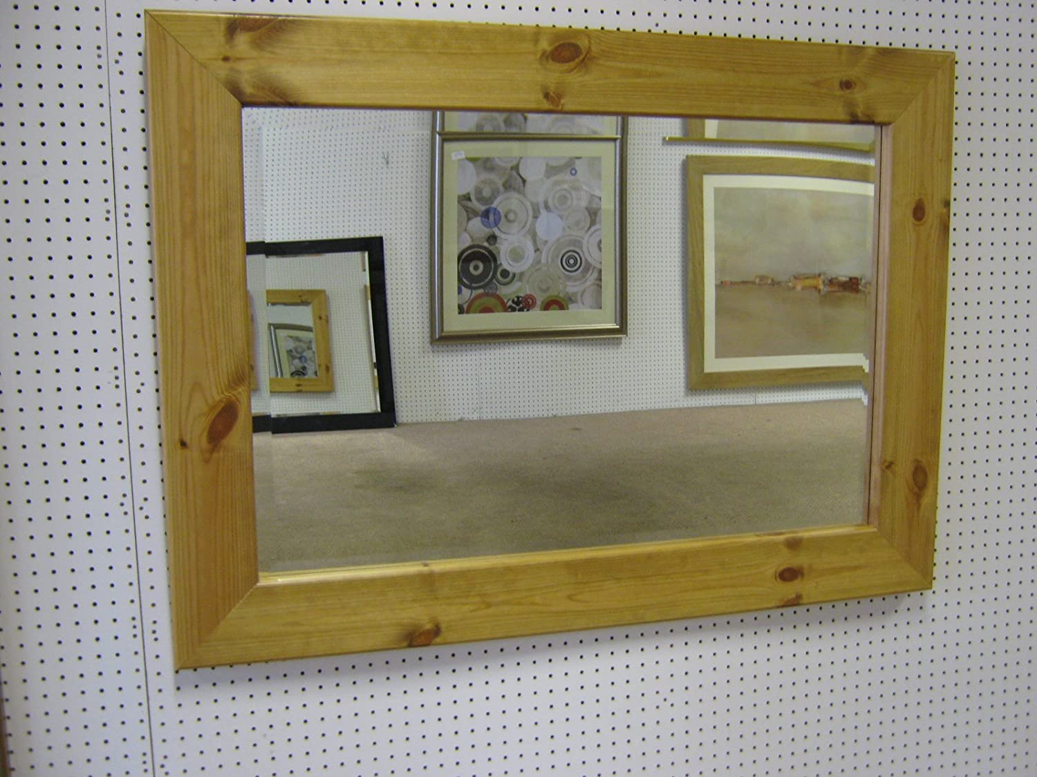 Uncategorized Large Pine Mirrors new large flat modern chunky solid pine light oak stained wall and overmantle mirrors various sizes available plain mirror gl