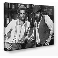 Bud Spencer - Vier Fäuste für EIN Halleluja - Leinwand (80 x 60 cm)