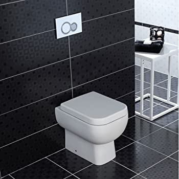 Business, Industry & Science RAK Origin Wall Hung Toilet 500mm Projection Soft Close Seat