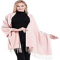 CJ Apparel 100% Kaschmir Zweilagige Schals Pashmina Handgemacht in Nepal Schultertuch Schal Umschlagtuch NEU