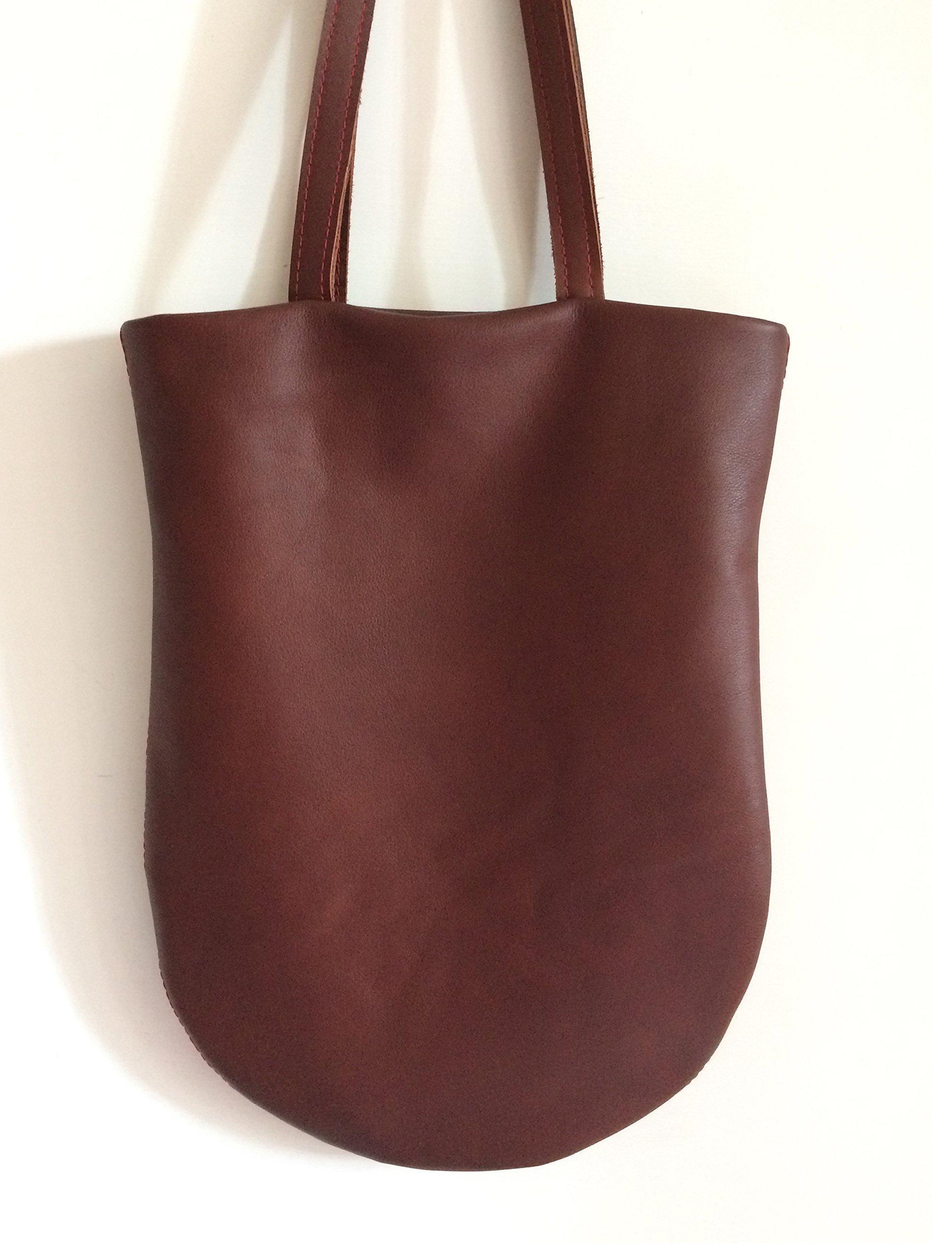 Leather brown tote bag, briefcases for woman, work bag or elegant bag, handmade handbags limited edition BBagdesign. - handmade-bags