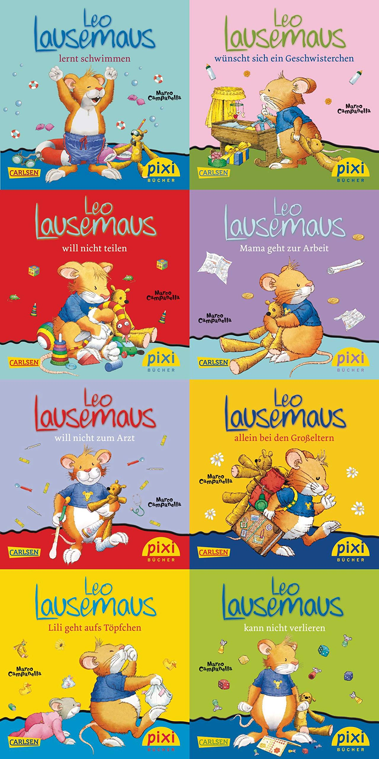 Pixi-8er-Set 219: Leo Lausemaus (8x1 Exemplar) (219)