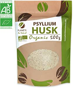 Organic Blond Psyllium Husk - 500g - 99% Pure Grade - Natural Fiber