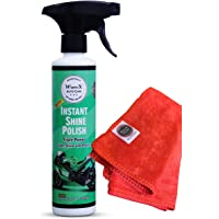 Wavex® Instant Spray Car and Bike Polish 350ML Includes Microfiber Cloth Also Cleans and Shines Home Appliances, Rubber…