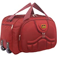 Everest Bag (Expandable)50L Waterproof Polyester Lightweight Luggage Travel Duffel Bag with 2 Wheels(Red)_EVR55_50
