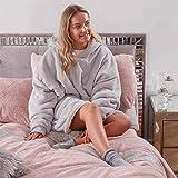 Sienna Hoodie Blanket Ultra Soft Sherpa Fleece Warm Cosy Comfy Oversized Wearable Hooded Sweatshirt for Adults Teens Kids Big