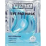 YEAUTY Deep Hydration Eye Pad Mask - Fuktgivande Ögonkuddar med Aloe Vera, Hyaluron och Vitamin E mot Torr och Spröd Hud - 1-