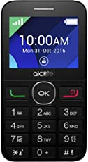 "Alcatel 20-08G Senior Phone con Base di Ricarica, 2.4"", Radio FM, Nero/Bianco"