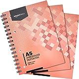 Amazon Basics Lot de 3cahiers à spirales 200pages 80g/m² Format A5
