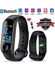 Infinizy M3 Intelligence Bluetooth Health Wrist Smart Band Watch Monitor, Smart Bracelet, Health Bracelet, Activity Tracker OLED Display Fitness Device for All Smartphones