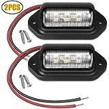 EEEKit Car Number Plate Lights, 12V 6 SMD LED License Plate Lamp Light for Truck SUV Trailer Van, Step Courtesy Lights…