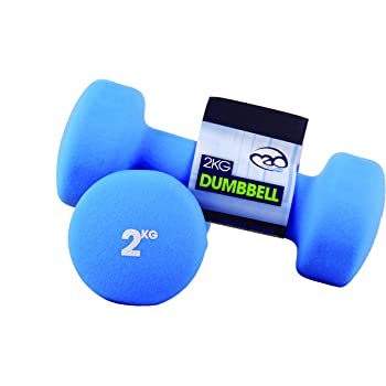 Fitness Mad Neo - Set de 2 Mancuernas / pesas de 2kg/u, color azul
