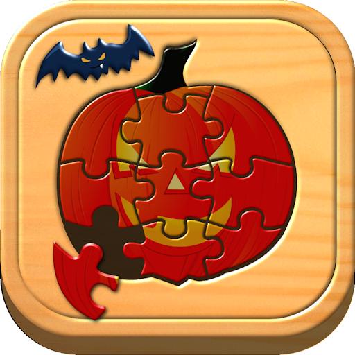 saw Puzzle Logik und Memory-Spiele für Kinder im Vorschulalter (Französisch-halloween Puzzle)