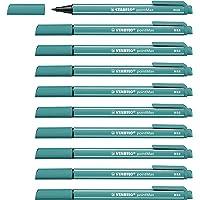 Stylo feutre - STABILO pointMax - Lot de 10 stylos-feutres pointe moyenne en nylon - Turquoise