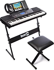 RockJam RJ561 61-Keys Electronic Keyboard SuperKit (Black)