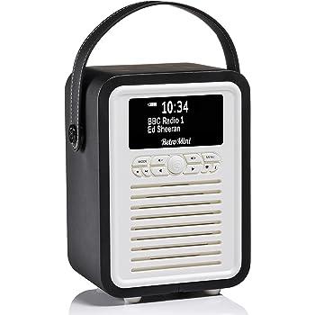 VQ Retro Mini DAB/DAB+ Digital- und FM-Radio mit Bluetooth und Weckfunktion - Schwarz