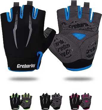 Grebarley Fahrradhandschuhe,Radsporthandschuhe rutschfeste und Stoßdämpfende Mountainbike Handschuhe mit geeiget Unisex Herren Damen