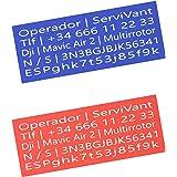 SERVIVANT ● Kit de 2 Placas Identificativas para Drones ● Placas para Drones OBLIGATORIAS según normativa AESA ● Tamaño Perso