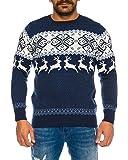 Raff&Taff Herren Strickpullover Sweater Hoodie Wollpullover   M - 5XL   Norweger Island Pullover Weihnachten Winter
