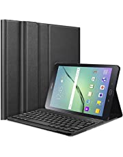 """HOM 3 Fold Wireless Bluetooth Keyboard Stand with Detachable Tablet Cover Case for Samsung Galaxy Tab S2 9.7"""" SM-T810 / LTE SM-T8155 Tablet"""