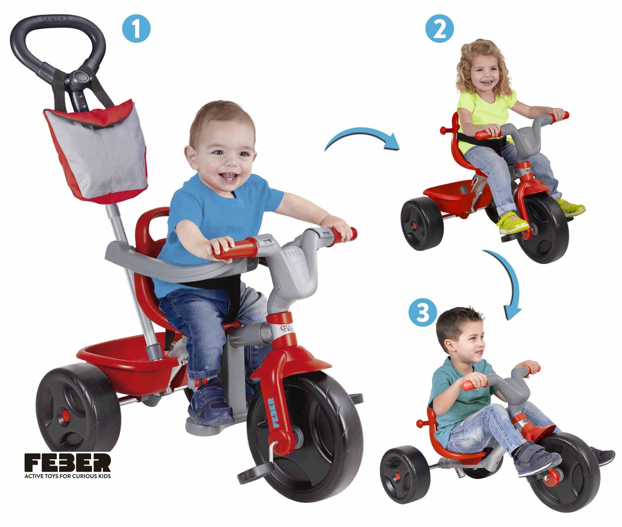FEBER – EVO Trike Plus 3 en 1 Triciclo (Famosa 800010946)