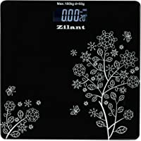 Zilant 6 mm Automatic Personal Digital Weighing Scale Machine With Large LCD Display and 4 Sensor Technology For Accurate Weight Measurement (Black)