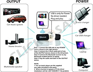 Safeseed Bluetooth Music Receiver Wireless Music Usb 3.5 Mm Yet-M1
