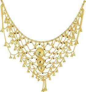 Handicraft Kottage 1 Gram Gold Plated Bridal Belly Chain (Kamarband) for Wedding, Anniversary, Ceremony, Pooja etc. for Women,Girls (HK-KB-01)