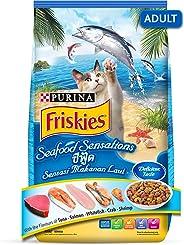Purina Friskies Seafood Sensation Adult Cat Food from Nestlé, 3 kg
