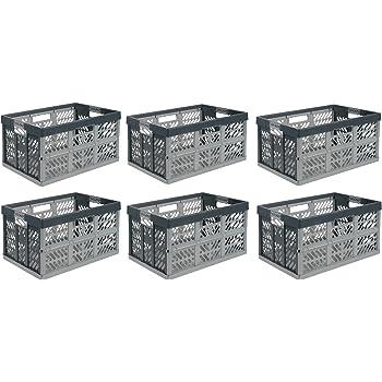 rot Faltbox Box Kiste Klappbox 45 L bis 50 kg silber 10 x Profi