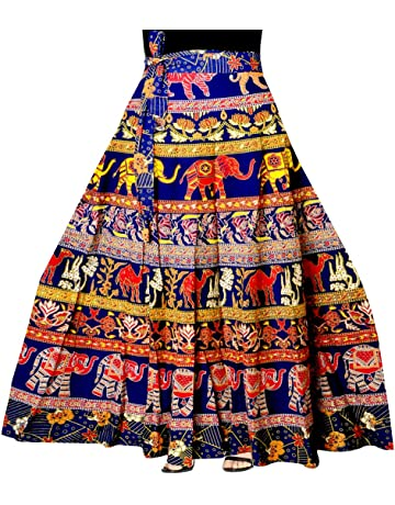 on Trend for Less Womens Multi-Color Indian Pattern Maxi Skirt