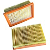 Clean Fairy Vacuum Cleaner Filters 2-pcs Replacement for Genuine KARCHER Flat-Pleated MV4 MV5 MV6 WD4 WD5 WD6 P PREMIUM WD5