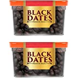 Manna Black Dates, 800g - Premium Imported Black Dates. 100% Natural. Rich in Iron, Fibre & Vitamins (400g x 2 Boxes)