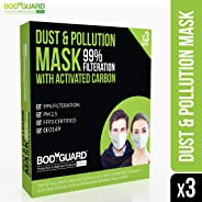 BodyGuard PM 2.5 Anti Dust & Pollution Face Mask with Exhalation Valve, Upto 99% FFP3 Level Filtration Technology with Activa