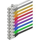 1aTTack - Câble réseau ethernet RJ45 CAT5 Lan - Set - SFTP - (10 couleurs 10 piècess) - 0,5 m