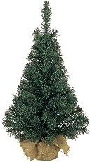 Mini Weihnachtsbaum im Jutesack   Kunststoff grün   biegsame Zweige   60 cm