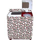 Amazon Brand - Solimo PVC Top Load Semi Automatic Washing Machine Cover, Circle, Brown
