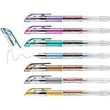 edding 2185 gelroller - goud, zilver, koper, blauw, groen, violet, roze - set van 7 - 0,7 mm - gelpens voor schrijven, kleure