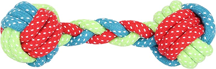 SRI High Quality Durable Rope Teeth Cleaning Chewing Biting Knotted Rope Dog Toys-for Small to Medium Dogs Biting Chewers-20 cms