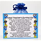 Head Teacher's Survival Kit - Fun Novelty Gift & Card Alternative/Birthday/ Keepsake /Thank You/Head Teacher Gift