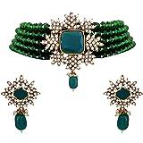 Matushri Art Indian Traditional Jewelry of Choker Neckless Set for Women and Girls