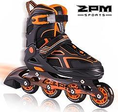 2pm Sports Torinx Orange Black Jungen Einstellbare Inline Skates, Spaß Inliner für Kinder, Anfänger Rollschuhe für Mädchen, Herren und Damen