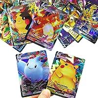 RULY Cartes Pokemon GX V Vmax, Cartes à Collectionner Pokémon, Jeu de Cartes de Bataille interactif, Cadeau enfant…