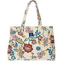 AQVA Cotton Canvas Shoulder Bag/Tote Bag For Women, Printed Multipurpose Handbag With Top Zip, Best For Shopping, Travel…