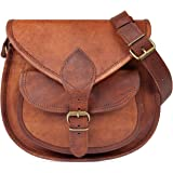 Nama 'Felicia' Handtasche Echtes Leder Vintage Umhängetasche für Damen Retro Design Ledertasche Schultertasche Naturleder
