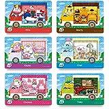 6PCS NFC Tag Card, Rilla , Marty , Etiile , Chai , Chelsea , Toby, compatibile per Switch / Switch Lite / Wii U / New 3DS, co